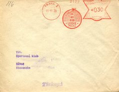16738 Ceskoslovensko, Red Meter/freistempel/EMA/ Praha 1935 Legie  ,  Circuled Cover - Tschechoslowakei/CSSR