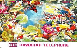 USA HAWAII 3 UNITS FISHES FLOWERS MARINE LIFE  1990's  TAMURA MINT READ DESCRIPTION !!! - Hawaï
