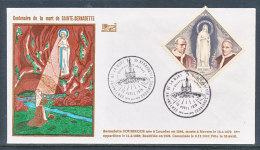 Monaco 1979 Lot De 3 Enveloppes Centenaire De La Mort De Sainte Bernadette - FDC