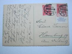 1922 , 12 M Altershilfe Auf Karte Aus Braunschweig - Deutschland