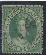Colonie Anglaise, Queensland,  N° 6 Oblitéré - Grande-Bretagne (ex-colonies & Protectorats)