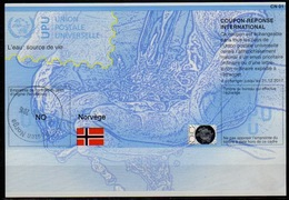 NORGE / NORWAY / NORVEGE Do37 20140410 Int. Reply Coupon Reponse Antwortschein IRC IAS  Hologram O Posten Norge 1.7.16