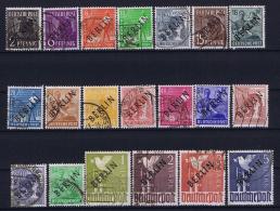 Berlin: 1948  Mi Nr 1 - 20 Used Obl Gestempelt  60 Pf Has A Thin Spot - Used Stamps