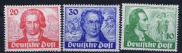 Berlin:  Mi Nr 61 - 63 MNH/**/postfrisch/neuf Sans Charniere  1949  Goethe - [5] Berlijn