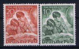 Berlin:  Mi Nr 80 - 81  MNH/**/postfrisch/neuf Sans Charniere 1951  Tag Der Briefmarken - [5] Berlin