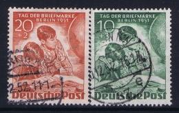 Berlin:  Mi Nr 80 - 81  Used Obl Gestempelt 1951  Tag Der Briefmarken - [5] Berlijn