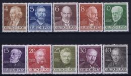 Berlin:  Mi Nr 91 - 100  MNH/**/postfrisch/neuf Sans Charniere 1952 - [5] Berlin