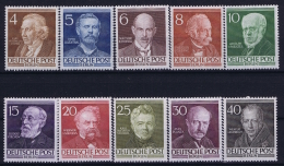 Berlin:  Mi Nr 91 - 100  MNH/**/postfrisch/neuf Sans Charniere 1952 - Berlin (West)