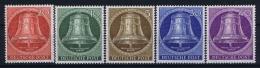 Berlin:  Mi Nr 101 - 105  MNH/**/postfrisch/neuf Sans Charniere 1953 Glocken Mitte - [5] Berlin