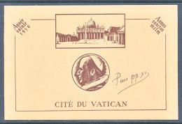 Vatican Carte Double 1950 Année Sainte - Lettres & Documents