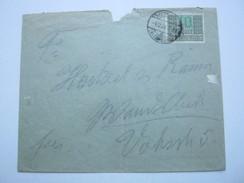 1922 ,  10 Mark  Steuermarke Auf Brief Aus Buchholz Nach Wandsbek  , Recht Selten - Allemagne