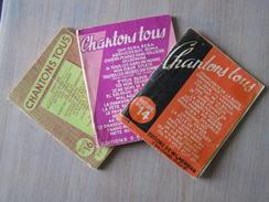 Petits Livrets Des Année 60 Chantons Tous ( N°14,15,16) - Livres, BD, Revues
