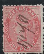Colonie Anglaise Variété, Queensland,  N° 41 Oblitéré, Défaut Sur Le U De Queensland - Grande-Bretagne (ex-colonies & Protectorats)