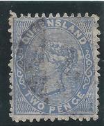 Colonie Anglaise Variété, Queensland,  N° 42 Oblitéré, Défaut Sur Le C De Pence - Grande-Bretagne (ex-colonies & Protectorats)