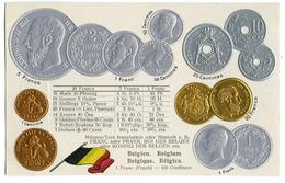 CPA MONNAIES ET PAVILLON NATIONAL - BELGIQUE - Monnaies (représentations)