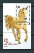 2002 Netherlands Antilles Complete M/Sheet Year Of The Horse,pferd,paard MNH/Postfris/Neuf Sans Charniere - Curaçao, Antilles Neérlandaises, Aruba