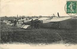 Militaires Militaria -ref D657- Guerre 1914-18- Escadrille D Aeroplanes -avions - Aviation  -carte Bon Etat   - - 1914-1918: 1. Weltkrieg