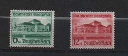 ALLEMAGNE (IIIe Reich ) 1938 Inauguration Du Théatre à Sarrebruck. N°614 Et 615.Neufs, Très Légère Trace De Charnière. - Allemagne