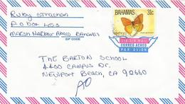 Bahamas 1983 Freeport Large Orange Sulphur Phoebis Agaritha Antilla Butterfly Cover - Vlinders