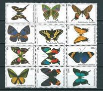 2003 Netherlands Antilles Complete Set Vlinders,schmetterlinge,papillon,butterflies MNH/Postfris/Neuf Sans Charniere - Curaçao, Antilles Neérlandaises, Aruba