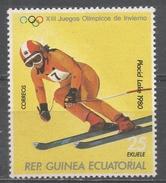 Equatorial Guinea 1978. Scott #7822 (MNH) Downhill Skiing - Guinée Equatoriale