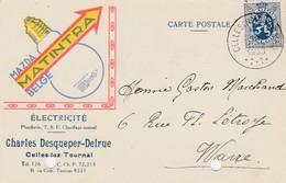 Celles-lez-Tournais,carte Publicité,Ch Desqueper-Delrue,ampoule Mazda Matintra,TSF,Chauffage Central - Celles