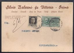 RA273 OSIMO - COMMERCIALE SILVIO BALEANI ,CEREALI SEMI DA PRATO ZOLFI ..SU ESPRESSO - Italia