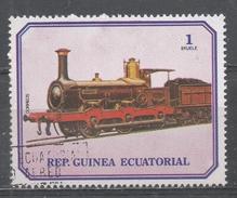 Equatorial Guinea 1978, Scott #7868 Old Locomotive (U) - Guinée Equatoriale