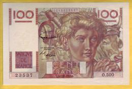 BILLET FRANCAIS - 100 Francs Jeune Paysan 2.10.1952 Filigrane Inversé SUP+ - 1871-1952 Anciens Francs Circulés Au XXème