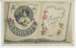 FEMMES - FRAU - LADY -  Jolie Carte Fantaisie Femme Et Fleurs Prénom HENRIETTE - Femmes