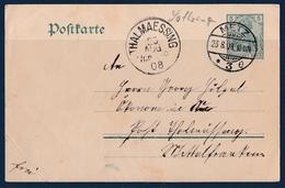 EP Metz 1908 Pour Thalmaessing Allemagne - Metz