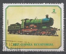 Equatorial Guinea 1978, Scott #7869 Old Locomotive (U) - Guinée Equatoriale