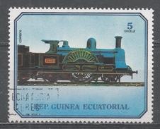 Equatorial Guinea 1978, Scott #7871 Old Locomotive (U) - Guinée Equatoriale