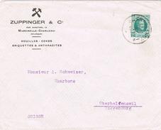 20754. Carta CHARLEROI (Belgien) 1923. Hu+iuolle- Cokes Anthracites - Bélgica