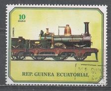 Equatorial Guinea 1978, Scott #7872 Old Locomotive (U) - Guinée Equatoriale