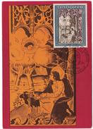 ANDORRE - 1969 CARTE MAXIMUM Du RETABLE DE ST JEAN DE CASELLES Avec CACHET FDC PREMIER JOUR - Andorre Français