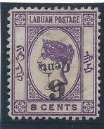 Colonie Anglaise, Labuan, N° 28 B * Surcharge Renversée - Grande-Bretagne (ex-colonies & Protectorats)