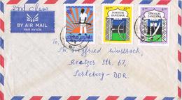 20758. Carta Aerea ZANZIBAR (tanzania) 1964 To Alemania DDR - Zanzibar (1963-1968)