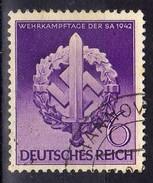 Deutsches Reich, 1942, Mi 818, Gestempelt, Wehrkampftage SA [221216StkKV] - Deutschland