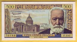 BILLET FRANCAIS - 500 Francs Victor Hugo 10.7.1958 SUP+ - 1871-1952 Antichi Franchi Circolanti Nel XX Secolo