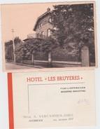 AVERBODE-HOTEL-LES BRUYERES-FAMILIEPENSIOEN-MEVR. VERCAMMEN-JORIS-ZICHTKAART+GESCHREVEN RECLAMEKAART-MOOIE DOCUMENTEN ! - Scherpenheuvel-Zichem