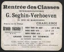Buvard Imprimerie Papeterie Seghin- Verhoeven Charleroi - Papeterie