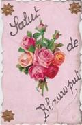 LEUVEN-BLAUWPUT-SALUT DE-VERSTUURDE KAART-1908-SCHEURTJE RECHTS-ZIE 2 SCANS-MOOI ! - Leuven