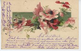 FLEURS - Jolie Carte Fantaisie Fleurs Anémones Signée CATHARINA KLEIN - Klein, Catharina