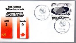 MEXIQUE  FDC Cup 1986 Fussball Soccer Football  URSS - Canada  2 - 0 - World Cup