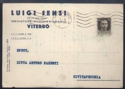RA294 VITERBO - COMMERCIALE LUIGI SENSI , MEDIATORE COMMISSIONARIO - Viterbo