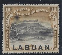 Colonie Anglaise, Labuan Variété, N° 83 A * Surcharge En Bas Du Timbre - Grande-Bretagne (ex-colonies & Protectorats)