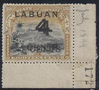 Colonie Anglaise, Labuan Variété, N° 90 A * Double Surcharge - Grande-Bretagne (ex-colonies & Protectorats)
