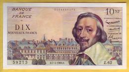 BILLET FRANCAIS - 10 NF Richelieu 7.4.1960 SPL - 1959-1966 Nouveaux Francs