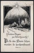 9098 - Alte Glückwunschkarte - Weihnachten - Kunstkarte MSch - Gel 1923 - Sonstige